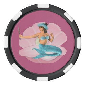Pinupmeerjungfrau Poker Chip Sets