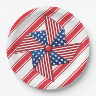 Pinwheel-ErinnerungstagesParty-Papier-Teller Pappteller