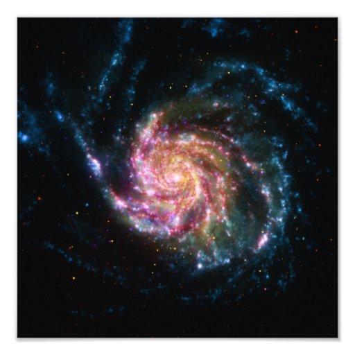 Pinwheel-Galaxie-Spiralen-Raum Photo