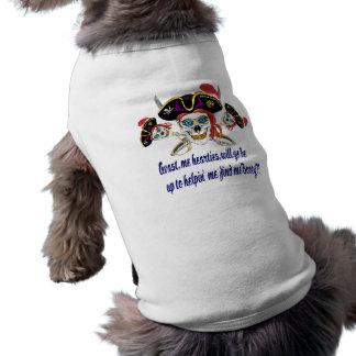 Pirat HILFE finden mich Hintern! Ärmelfreies Hunde-Shirt