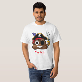 Pirat kacken Emoji Halloween T-Shirt