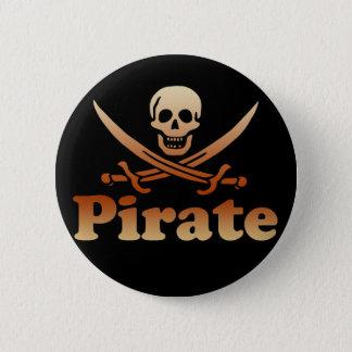 Pirat Runder Button 5,1 Cm