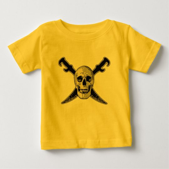 Pirat (Schädel) - Baby-feiner Jersey-T - Shirt