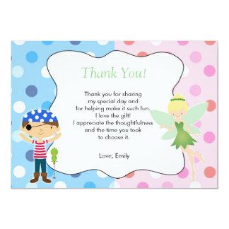Piraten-Fee danken Ihnen, Kindergeburtstag-Rosa zu 12,7 X 17,8 Cm Einladungskarte