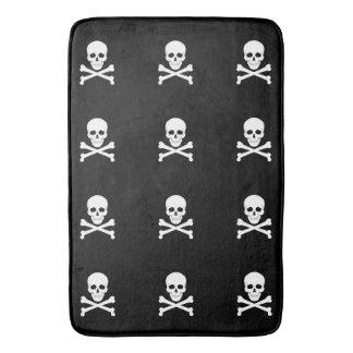 Piraten-Flaggen-Schädel und Knochen-Piratenflagge Badematte