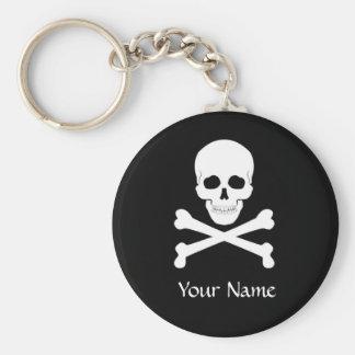 Piraten-Flaggen-Schädel und Knochen-Piratenflagge Schlüsselanhänger