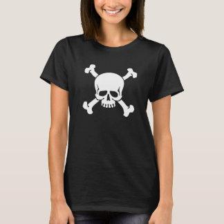 Piraten-Flaggen-Totenkopf mit gekreuzter Knochen T-Shirt