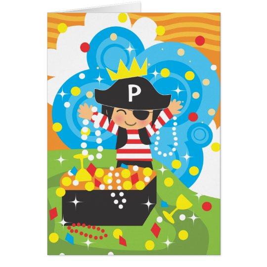 Piraten-Geburtstag danken Ihnen Notecard Karte