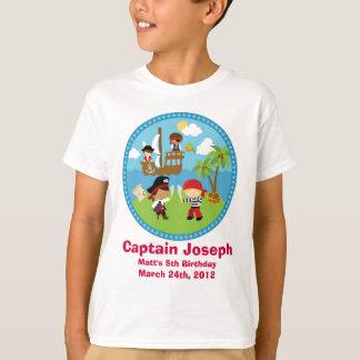 Piraten-Geburtstags-Party-personalisierte Shirts -