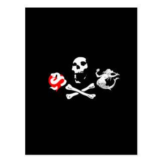 Piraten-Ikone #12 Postkarte