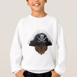 Piraten-Katze Sweatshirt