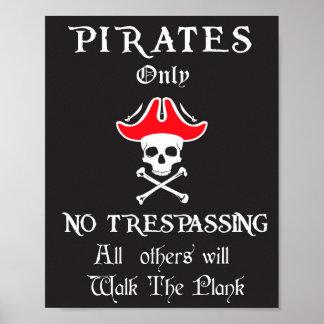 Piraten KEIN nur übertreten Poster