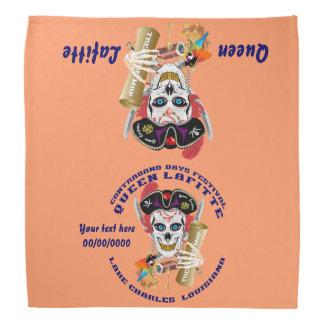 Piraten-Königinbandana-wichtige Ansicht über Kopftuch