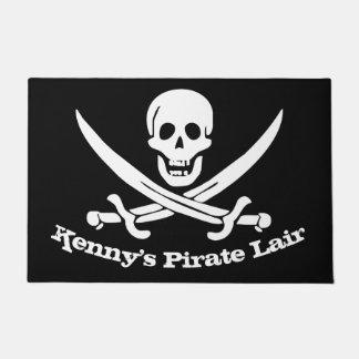 Piraten-Lager-personalisierter Schädel und Türmatte