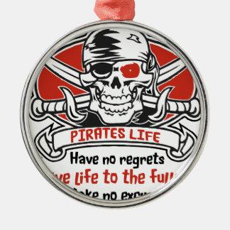 Piraten-Leben - Liveleben zum vollsten Rundes Silberfarbenes Ornament