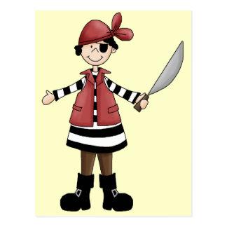 Piraten-Mädchen Postkarte