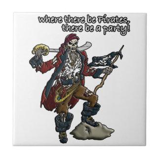Piraten-Party Keramikfliese