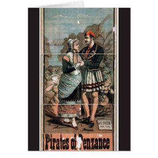 Piraten Penzance Vintagen Theaters Karte