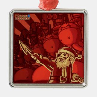 Piraten-Sankt-BaumTrinket Silbernes Ornament