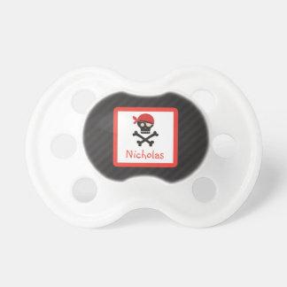 Piraten-Schädel-Knochen-personalisierter Schnuller
