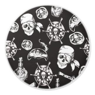 Piraten-Schädel-Schiffs-Rad Keramikknauf