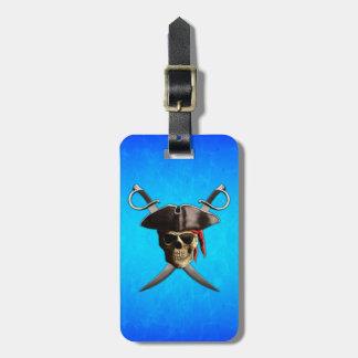 Piraten-Schädel-Schwerter Koffer Anhänger