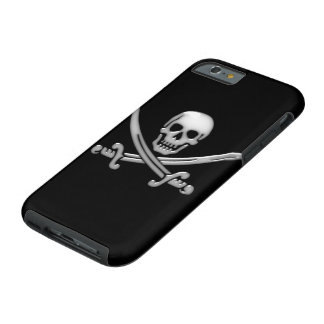 Piraten-Schädel-u. Klinge-gekreuzte Knochen Tough iPhone 6 Hülle