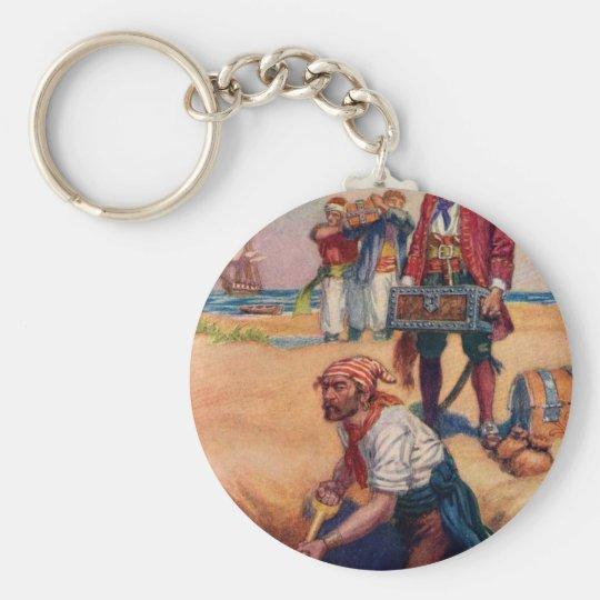 Piraten-Schatz Standard Runder Schlüsselanhänger