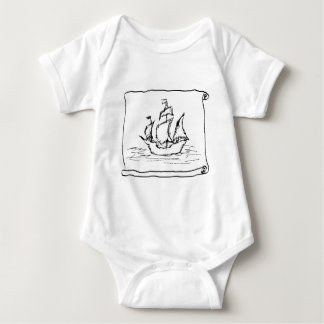 Piraten-Schiff Baby Strampler