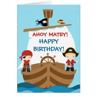 Piraten-Schiffs-Geburtstagsgruß Karte