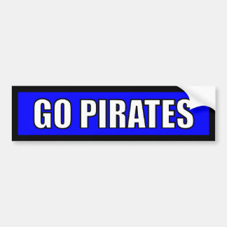 Piraten - schwarzes blaues Weiß Autoaufkleber