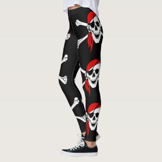 Piraten-Totenkopf mit gekreuzter Knochen Leggings