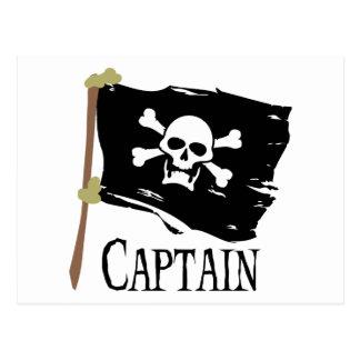 Piratenflagge-Kapitän Postkarte