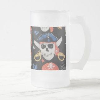 Piratenflagge-Piraten-Schädel Matte Glastasse