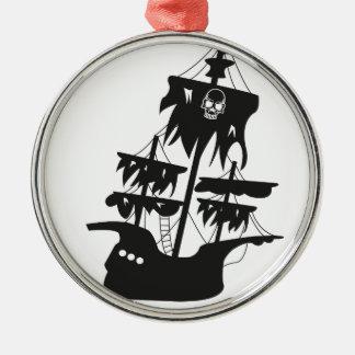Piratenschiff Silbernes Ornament