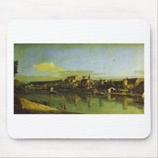 Pirna gesehen von der rechten Bank der Elbes durch Mousepad
