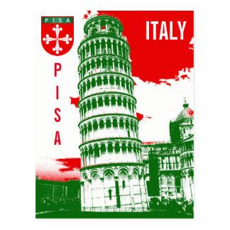 Pisa, Italien - der lehnende Turm Postkarte