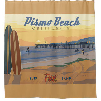 Pismo Strand Califorina Duschvorhang