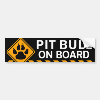 Pitbull an Bord Autoaufkleber