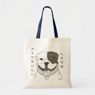 Pitbull Liebe-Taschen-Tasche Tragetasche