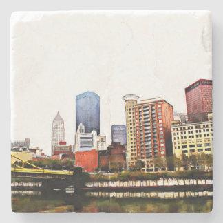 Pittsburgh-Fliesen-Untersetzer Steinuntersetzer