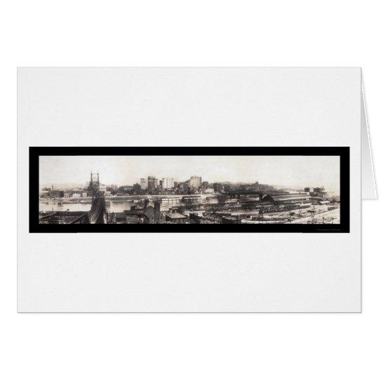 Pittsburgh, PAskyline-Foto 1907 Grußkarte