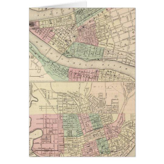 Pittsburgh und Allegheny, Pennsylvania Grußkarte