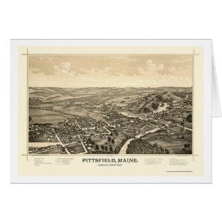 Pittsfield, ICH panoramische Karte - 1889