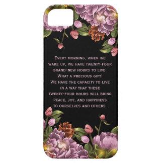 Pivoine rose personnalisée Girly florale Étuis iPhone 5