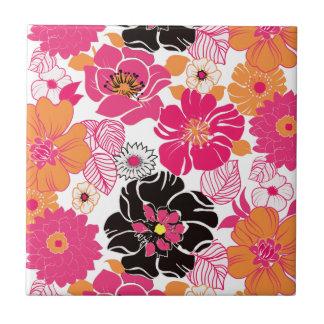 PixDezines Alegre Retro Blumen, DIY Hintergrund Kleine Quadratische Fliese