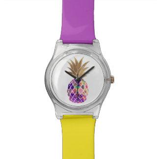 PixDezines Aloha Pineapple/DIY Hintergrund Armbanduhr