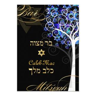 PixDezines Baum des Hintergrundes des Lebens 12,7 X 17,8 Cm Einladungskarte