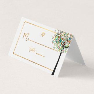 PixDezines Baum des Lebens+Grün+Orange Platzkarte