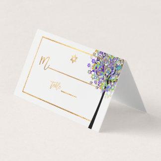 PixDezines Baum des Lebens+Lila+Grün Platzkarte